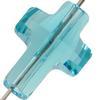 Swarovski 5378 Cross Bead Light Turquoise 18mm
