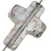 Swarovski 5378 Cross Bead Crystal Rose Patina 14mm