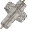 Swarovski 5378 Cross Bead Crystal Silver Patina 14mm