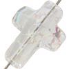 Swarovski 5378 Cross Bead Crystal White Patina 14mm