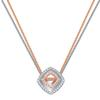 Swarovski Collections - Lovesome Square Pendant, Crystal, Mixed Plating