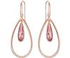 Swarovski Collections - Lisanne Hoop Earrings Pink Rose Gold Plating