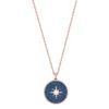 Swarovski Collections - Locket Pendant, Blue, Rose Gold Plating