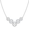 Swarovski Collections - Sparkling Dance Flower Necklace, Medium, Crystal, Rhodium Plating