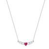 Swarovski Collections - Love Necklace, Crystal, Rhodium Plating