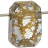 Swarovski 5514 Pendulum Bead Crystal Gold Patina 10x7mm