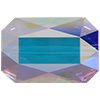 Swarovski 5515 Emerald Cut Bead Crystal AB 14x9.5mm