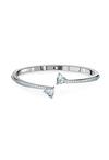 Swarovski Attract Soul Heart Bangle, White, Rhodium Plated