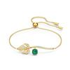 Swarovski Collections - Bracelet Tropical Crystal Emerald Crystal Gold M