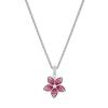 Swarovski Collection Necklace Tropical Pendant Leaf Light Multi Rhodium Silver