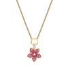 Swarovski Collection Necklace Tropical Pendant Leaf Light Multi Gold