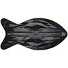 Swarovski 5727 Fish Bead Crystal Silver Night 14mm