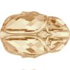 Swarovski 5728 Scarab Bead Crystal Golden Shadow 12mm