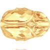 Swarovski 5728 Scarab Bead Crystal Metallic Sunshine 12mm