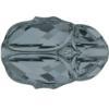 Swarovski 5728 Scarab Bead Crystal Silver Night 12mm