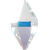 Swarovski 5747 Double Spike Bead Crystal AB 16x8mm