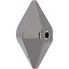 Swarovski 5747 Double Spike Bead Crystal Silver Night 2X 12x6mm