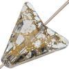 Swarovski 5748 Arrow Bead Crystal Gold Patina 16mm