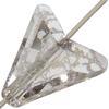 Swarovski 5748 Arrow Bead Crystal Silver Patina 16mm