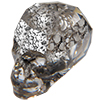 Swarovski 5750 Skull Bead Crystal Black Patina 19mm