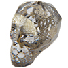 Swarovski 5750 Skull Bead Crystal Gold Patina 19mm