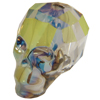 Swarovski 5750 Skull Bead Crystal Iridescent Green 19mm