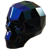 Swarovski 5750 Skull Bead Jet Glacier Blue 13mm