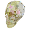 Swarovski 5750 Skull Bead Crystal Luminous Green 19mm