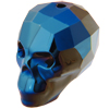 Swarovski 5750 Skull Bead Crystal Metallic Blue 2X 13mm