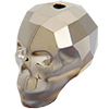 Swarovski 5750 Skull Bead Crystal Metallic Light Gold 2X 13mm
