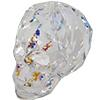 Swarovski 5750 Skull Bead Crystal White Patina 13mm