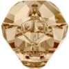Swarovski 5751 Panther Bead Crystal Golden Shadow 14mm