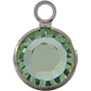Swarovski 57700 Channel Link in Peridot/Rhodium