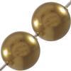 Swarovski 5810 Round Pearl Bead Antique Brass 6mm