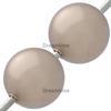 Swarovski 5811 Round Large Hole Pearl Bead Bronze10mm