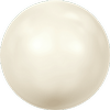 Dreamtime Crystal DC 5818 1/2 Drilled Round Pearl Light Creamrose 3mm