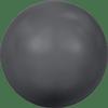 Dreamtime Crystal DC 5818 1/2 Drilled Round Pearl Dark Grey 10mm