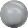 Dreamtime Crystal DC 5818 1/2 Drilled Round Pearl Grey 10mm