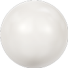 Swarovski 5818 1/2 Drilled Round Pearl White 6mm