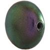 Swarovski 5860 Coin Pearl Bead Iridescent Purple 12mm