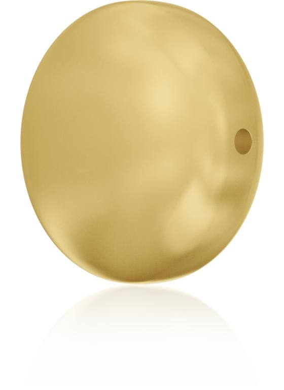 Swarovski 5860 Coin Pearl Bead Gold 10mm