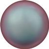 Swarovski 5860 Coin Pearl Bead Iridescent Red 10mm