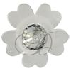Acrylic Flower with Rivoli Center Accent