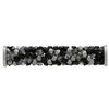 Swarovski 5950 Fine Rocks Tube with ending Jet & Crystal Metallic Silver / Steel 30mm