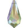 Swarovski 6000 Teardrop Pendant Crystal Paradise Shine 11x5.5mm