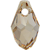 Swarovski 6007 Small Briolette Pendant Crystal Golden Shadow 7x4mm