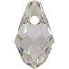 Swarovski 6007 Small Briolette Pendant Crystal Silver Shade 7x4mm