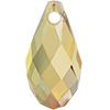 Swarovski 6010 Briolette Pendant Crystal Metallic Sunshine 13x6.5mm