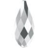 Swarovski 6010 Briolette Pendant Crystal Light Chrome 13x6.5mm
