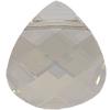 Swarovski 6012 Flat Briolette Pendant Crystal Silver Shade 11x10mm